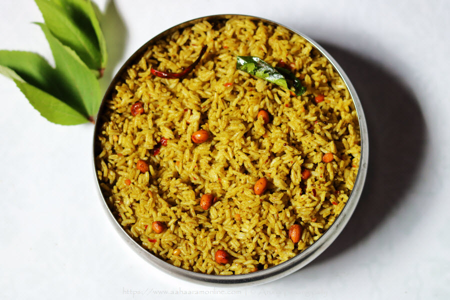 Gongura Annam | Gongura Pulihora: A spicy, tangy rice made with Roselle leaves.