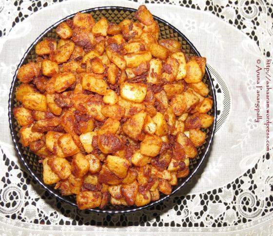 Crisp Potato Fry, Bangala Dumpa Vepudu, Urulai Kizhangu Roast - South Indian Style