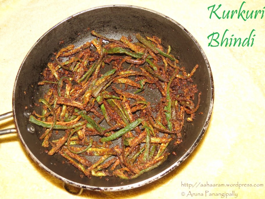 Kurkuri Bhindi, Crispy Okra or Lady Fingers - Low Oil Version