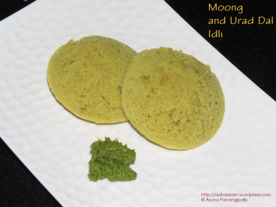Moong and Urad Dal Idlis - Dali Santhan - Konkani Recipe