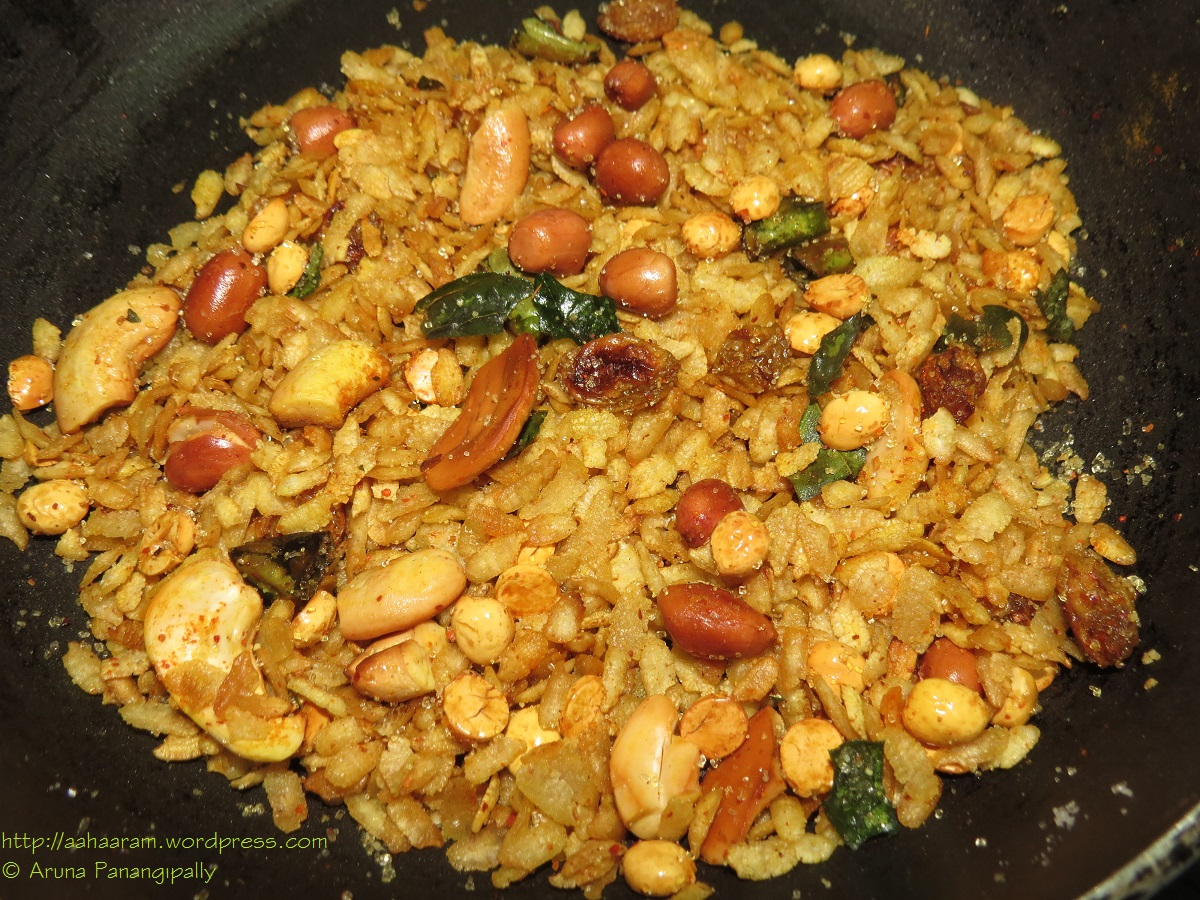 Poha Chivda - Low Oil Version, Low Calorie Version