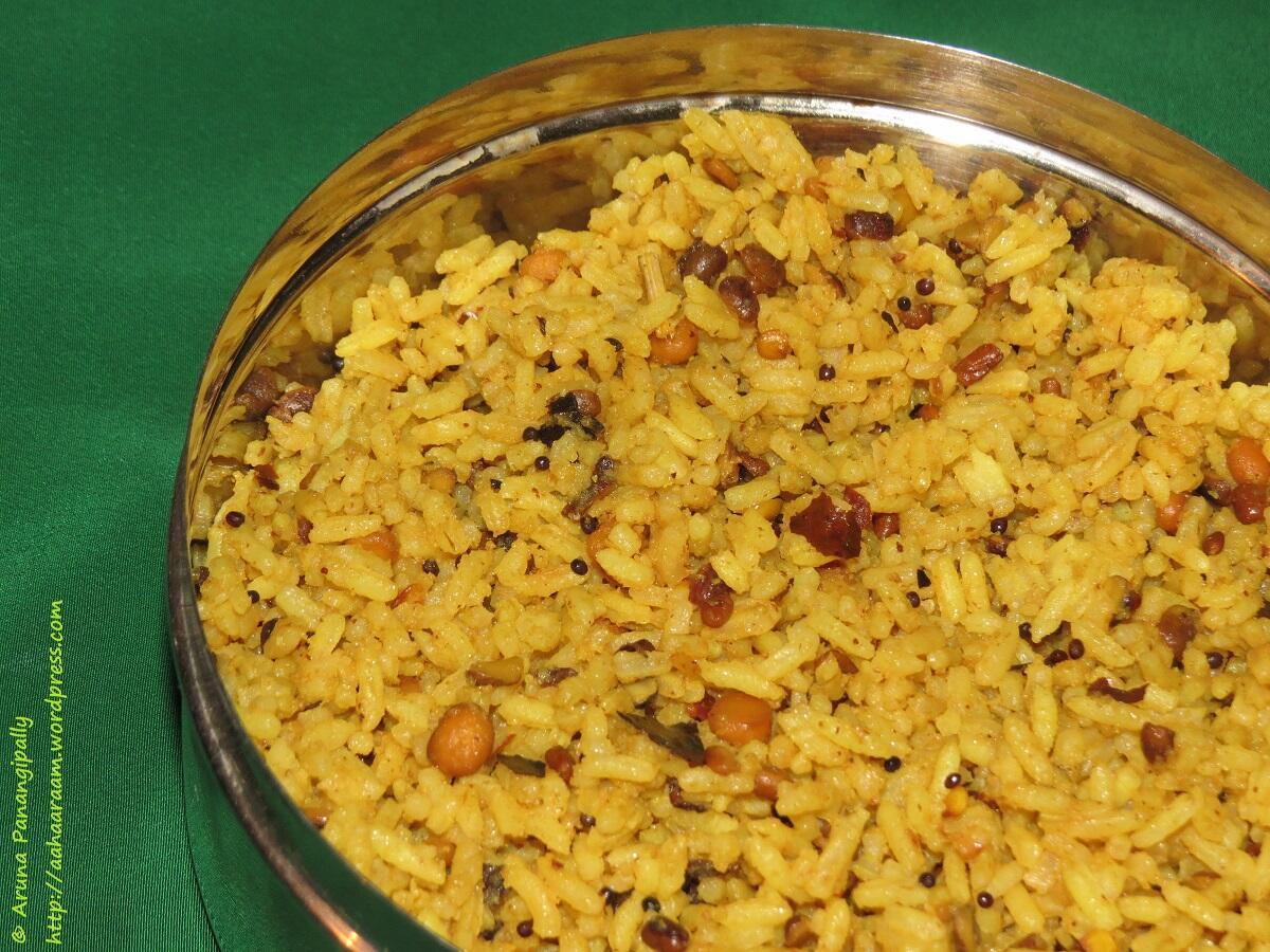Kovil Pulihora   Koyil Puliyodarai is  Tamarind Rice as made in a temple.
