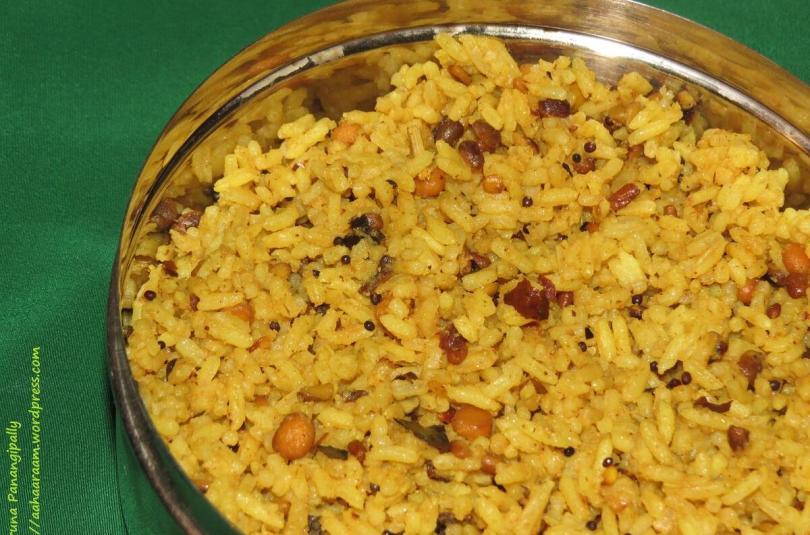 Kovil Pulihora | Koyil Puliyodarai | Temple Tamarind Rice as Made in a Temple