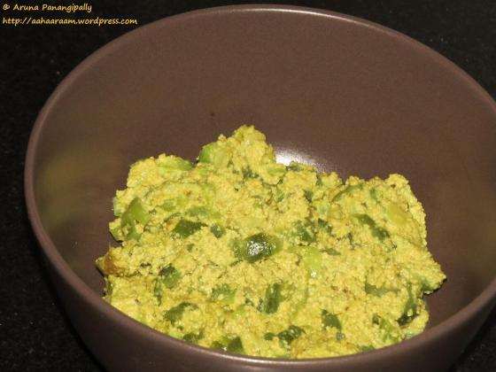 Jhinge Posto or Ridge Gourd in Poppy Seed Paste - Bengali Recipe - 2