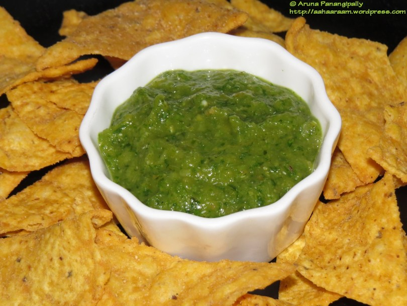 Salsa Verde with Green Tomatoes