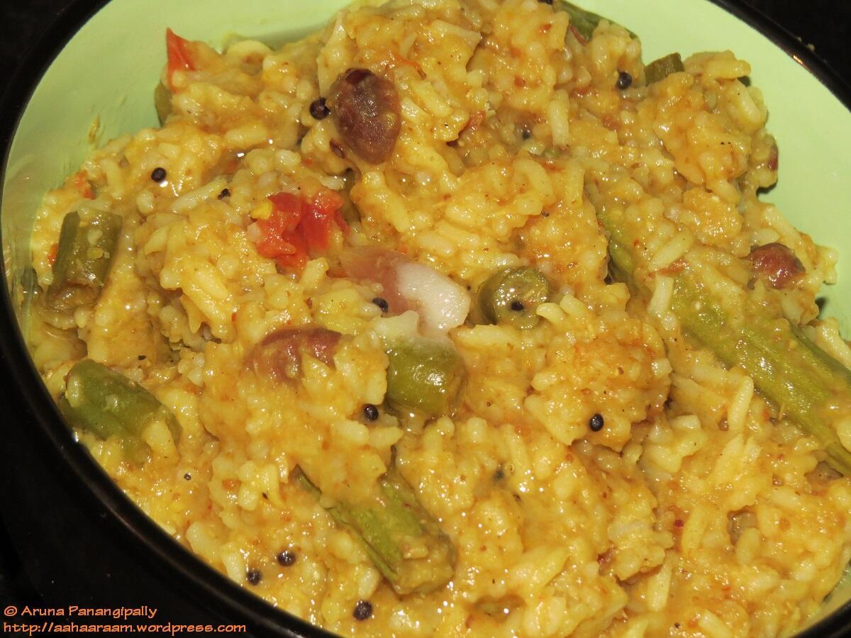 Sambar Rice | Kadamba Sadam with Ghee on Top!