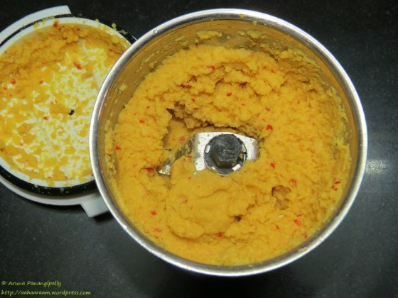 Paruppu Urundai Kuzhambu - The Ground Paruppu Urundai Paste