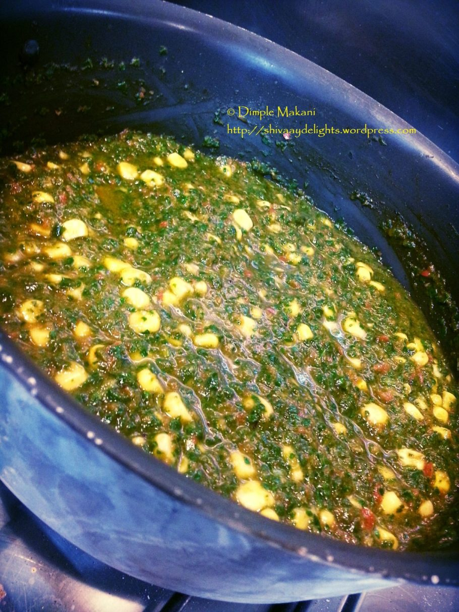 Sweet Corn Spinach Curry