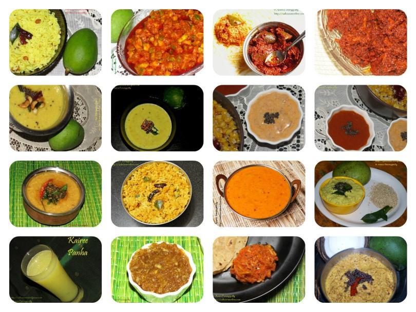 A Collection of Recipes with Kairi, Mammidikaya, or Raw Mango