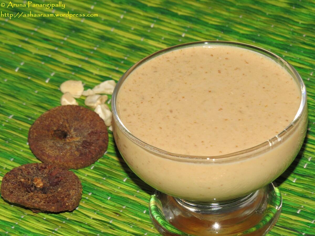 Kaju Anjeer Milkshake - Cashew Fig Milkshake
