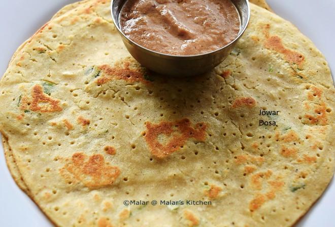 Jowar Dosa, Jowar Dosa, Sorghum Pancake, Healthy, Diet Food