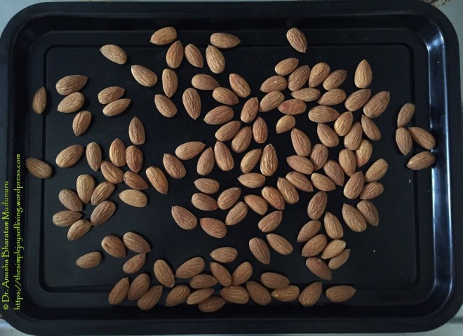 Lintzer Cookies - Toasting the Almonds