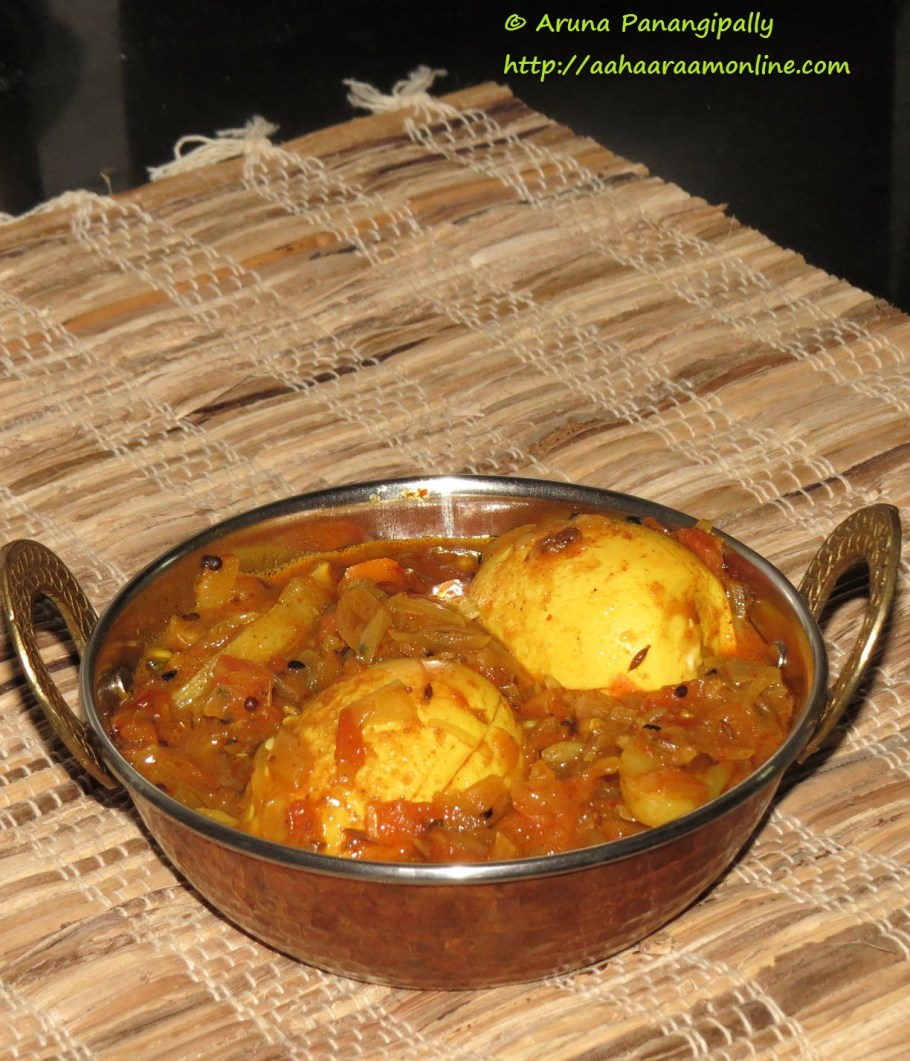 Bengali Style Egg Curry - Dimer Jhol or Dalna with Panch Phoran