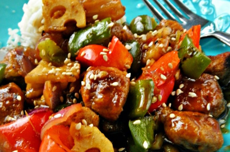 Peppers and Nuggets in Spicy Orange Sauce – Guest Post by Sandhya Rege Nadkarni of IndFused