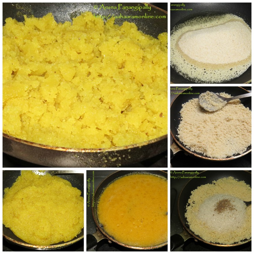 Step-by-step procedure for making Rava Kesari