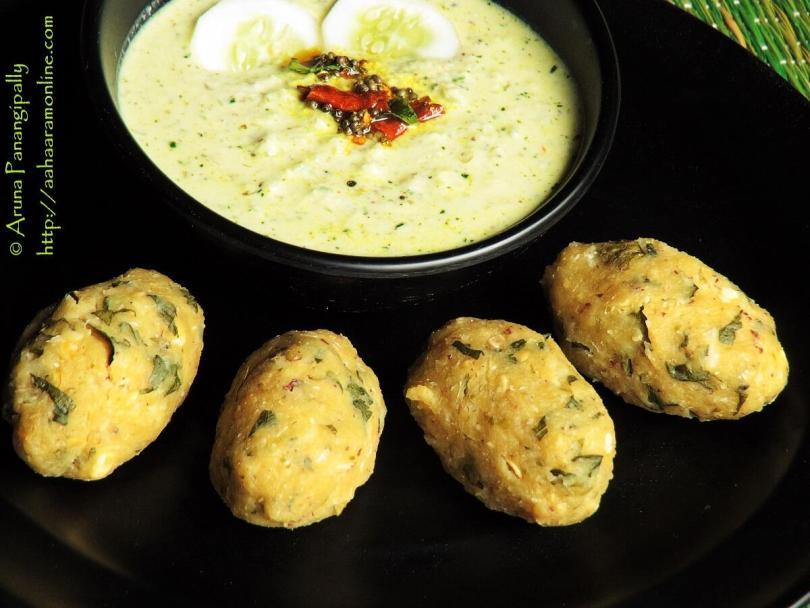 Nucchina Unde – Steamed Tuvar Dal Dumplings from Karnataka