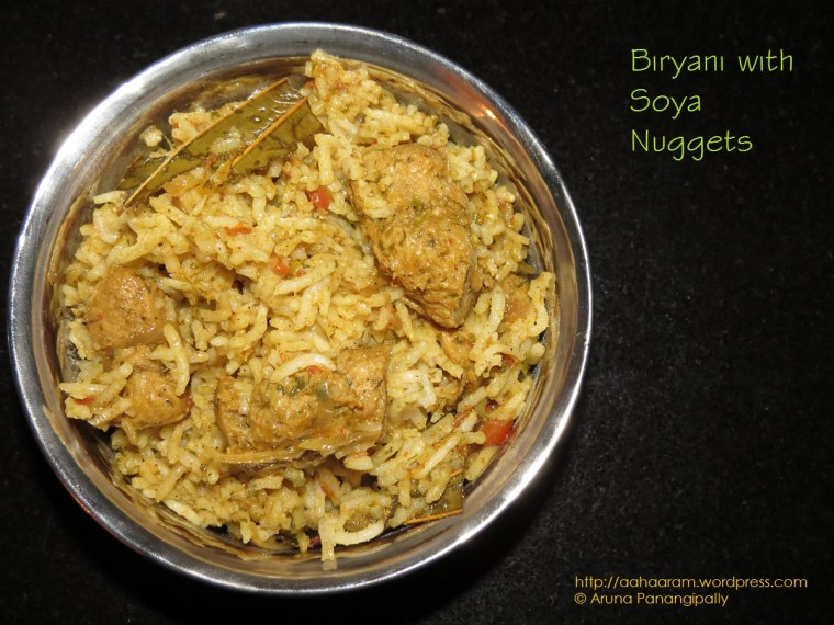 Biryani with Nutrela Soya Chunks or Nuggets