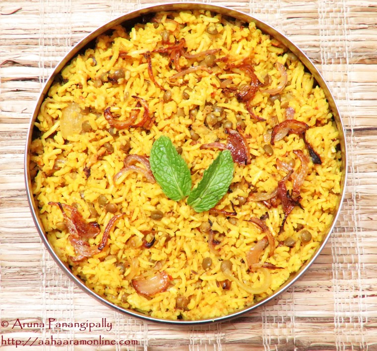 Recipe for Masoor Dal Biryani or Masur Dal Biryani