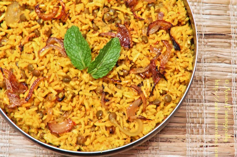 Masoor Dal Biryani – Guest Post by Mahjabeen Sayed