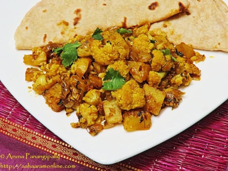 Punjabi Alu Gobi - Potato and Cauliflower Curry