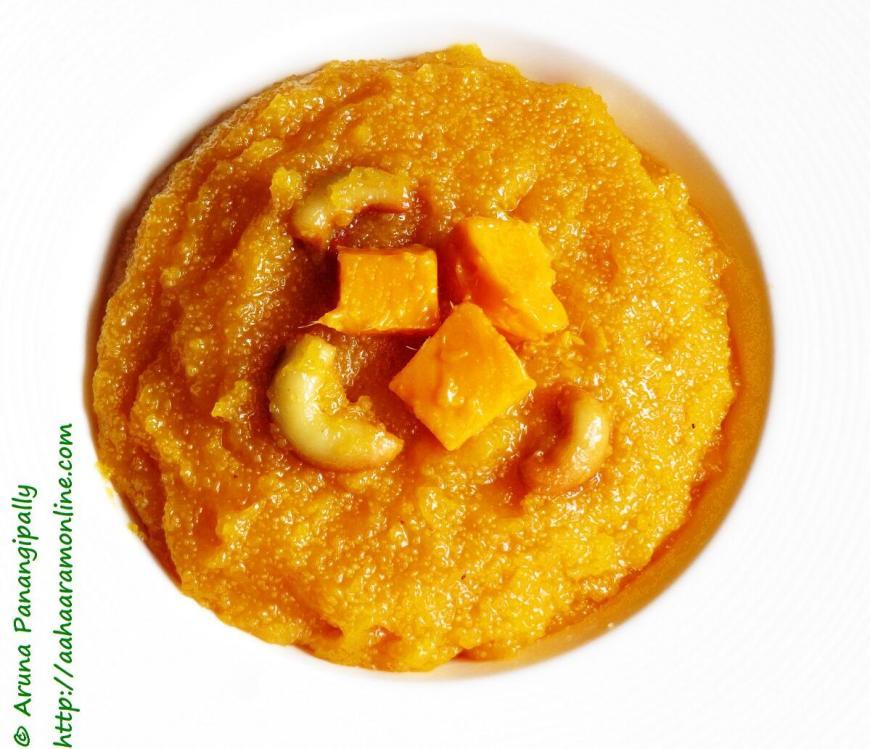 Mango Sheera or Aam ka Suji Halwa