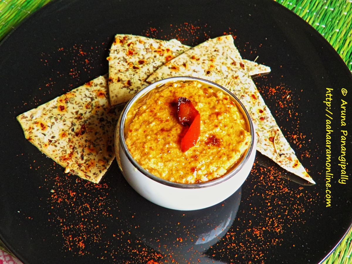 Red Bell Pepper Hummus Recipe — Dishmaps
