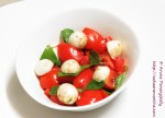 Bocconcini Tomato and Basil Salad with Balsamic Vinegar Dressing