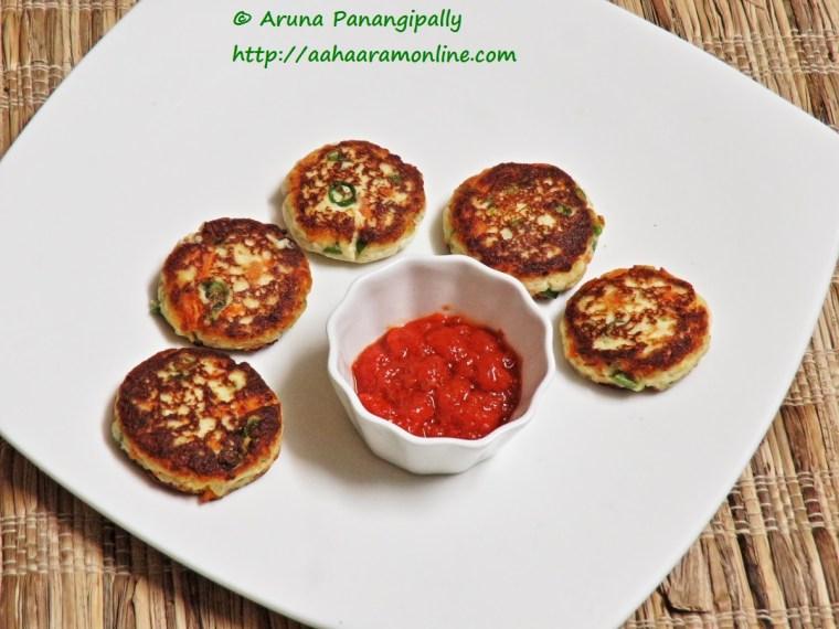 Healthy Paneer Tikki with Vegetables