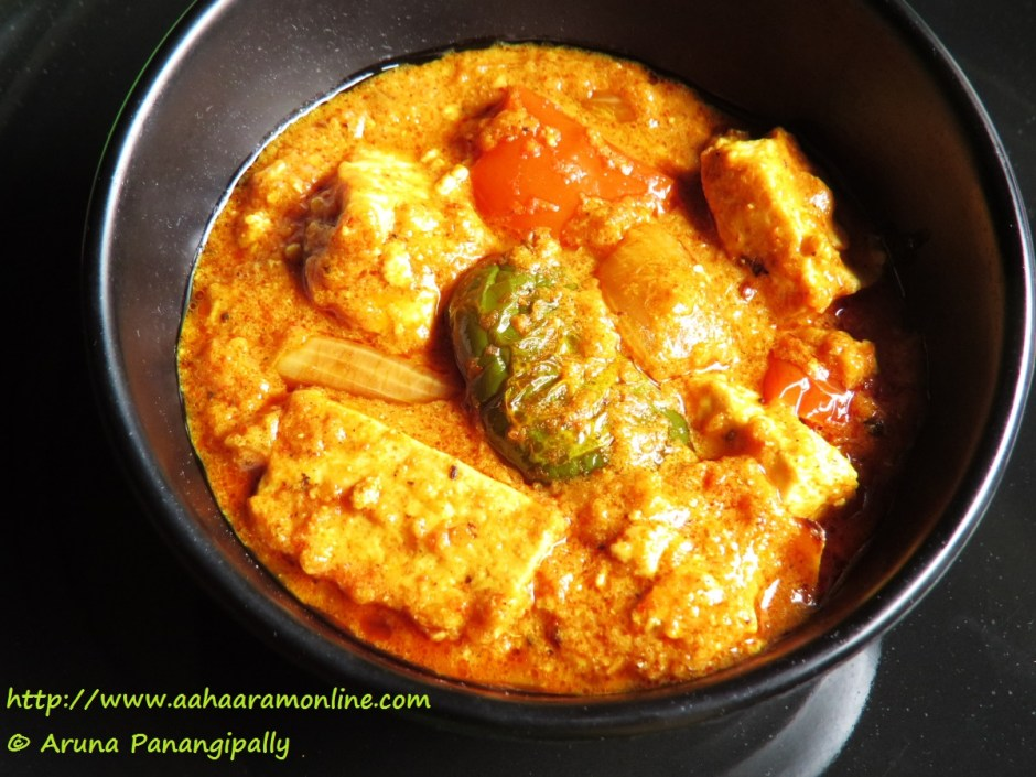 Paneer Tikka Masala is a gravy version of the popular starter, Paneer Tikka