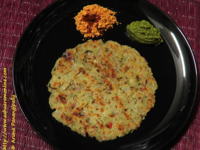 Rava Rotti | Savoury Semolina Pancake from Karnataka
