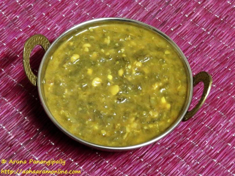 Sai Bhaji - A Sindhi Recipe