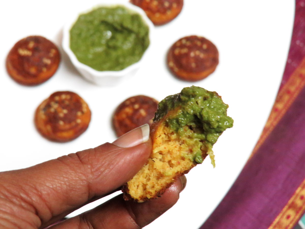 Gujarati Handvo with Green Chutney