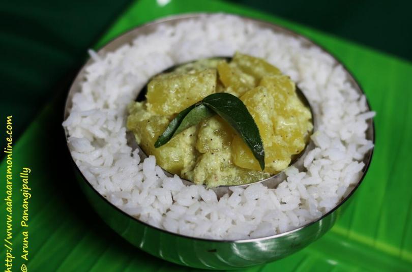 Green Papaya Avial Kootan | Paccha Papaya Avial