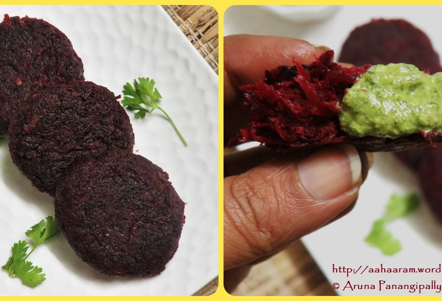 Beetroot Tikki with Dahiwali Pudina Chutney
