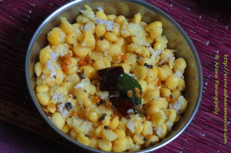 Kadalai Paruppu Sundal   Chana Dal Sundal Recipe for Navratri