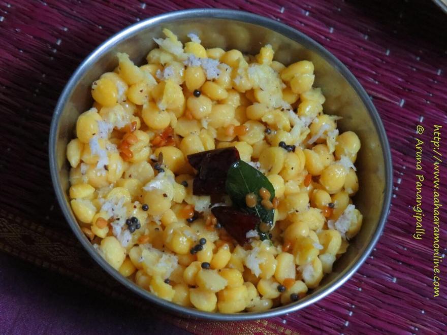 Chana Dal Sundal | Kadalai Paruppu Sundal