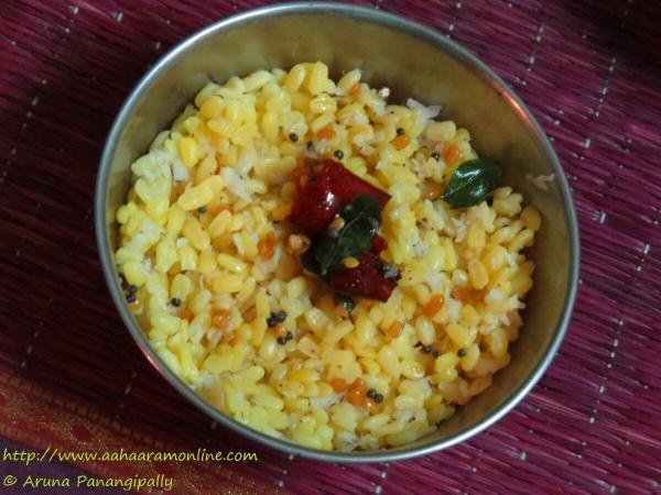 Pasi Paruppu Sundal for Navratri