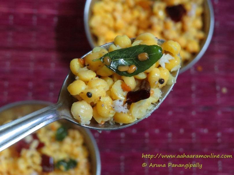 A Spoonful of Kadalai Paruppu Sundal