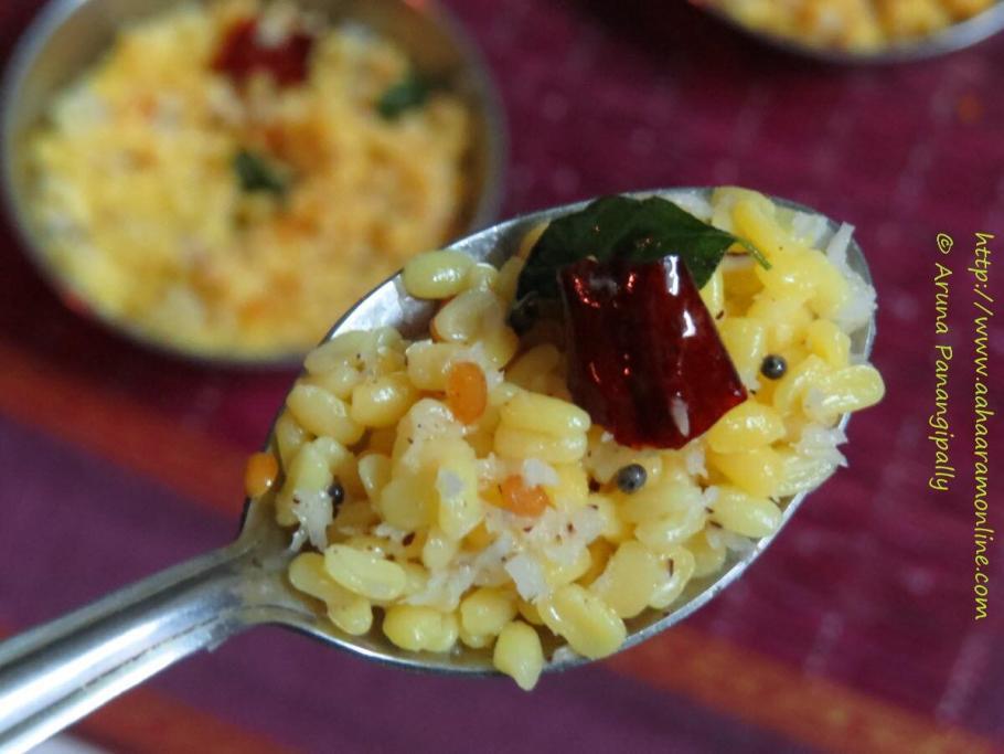 Spoonful of Pasi Paruppu Sundal
