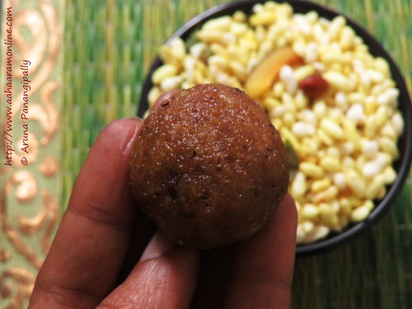 Andhra Kobbari Louz | Coconut Jaggery Laddu