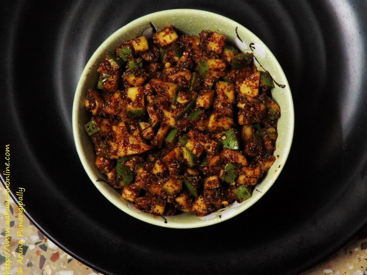 Mammidikaya Menthi Baddalu | Menthi Mukkalu | Instant Mango Pickle from Andhra