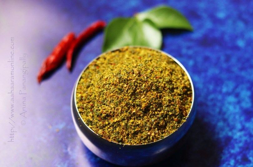 Karivepaku Podi | Andhra Curry Leaves Powder