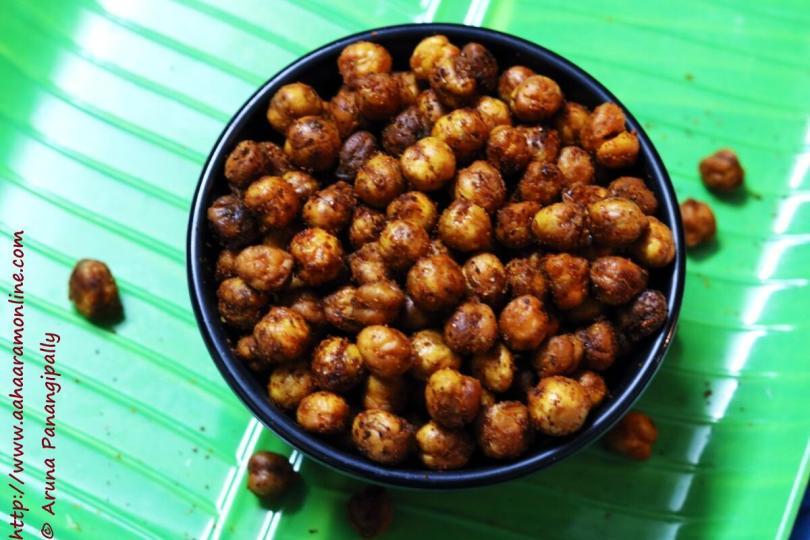 Crunchy, Chilli Flavoured Crunchy Baked Chickpeas