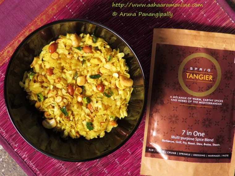 Poha Chivda with SPRIG: Mediterranean Spice Blend