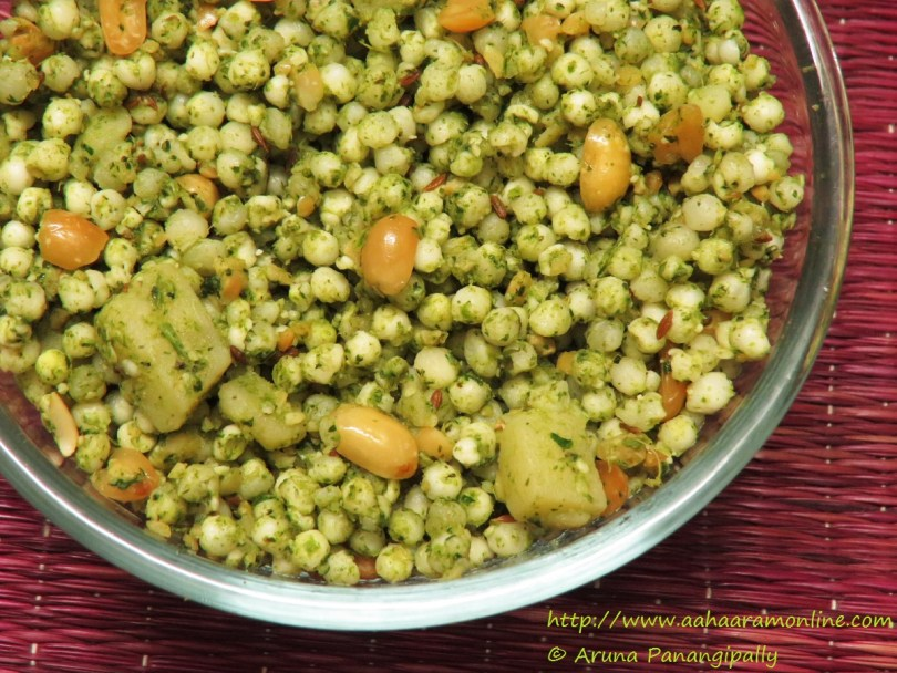 Spicy Green Sabudana Khichdi