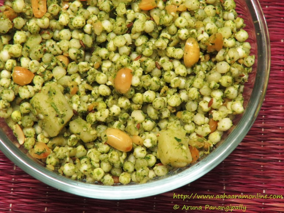 Spicy Green Sabudana Khichdi