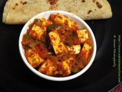 Paneer cooked in Pav Bhaji Masala