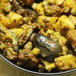 Panchkutiyu Shaak: Mixed Vegetables flavoured with a coconut-coriander-sugar-lemon masala from Gujarat