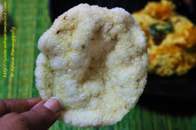 Aviri Vadiyalu | Sun-dried Steamed Rice Batter Discs