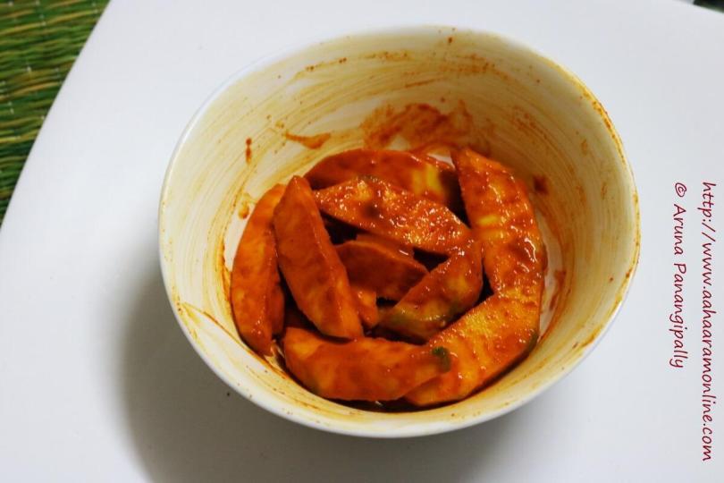Kacche Aam ka Hing Wala Achar   Instant Mango Pickle with Asafoetida